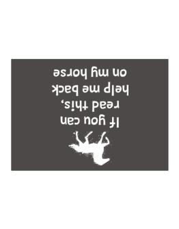 IF YOU CAN READ THIS, PUT ME BACK ON MY HORSE! Sticker