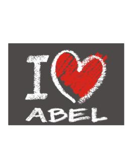 I love Abel chalk style Sticker