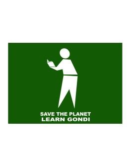 Save The Planet Learn Gondi Sticker