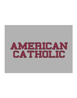 American Catholic - Simple Athletic Sticker