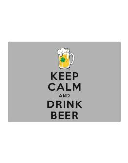Keep calm and drink beer Sticker