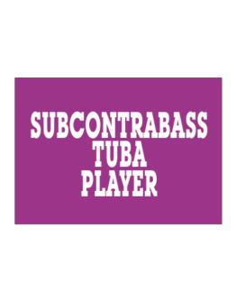 Subcontrabass Tuba Player - Simple Sticker