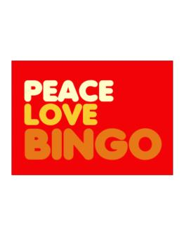 Peace Love Bingo Sticker