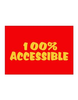100% Accessible Sticker