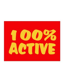 100% Active Sticker
