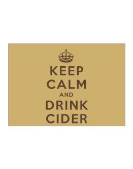 Keep Calm and drink Cider Sticker