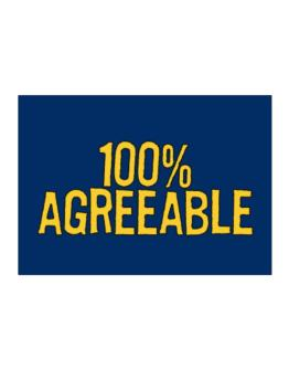 100% Agreeable Sticker