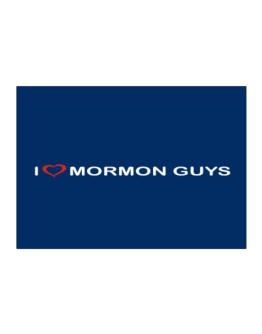 I Love Mormon Guys Sticker