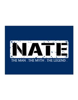 Nate : The Man - The Myth - The Legend Sticker