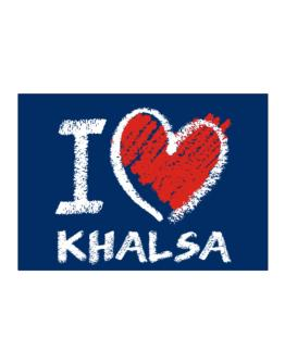 I love Khalsa chalk style Sticker
