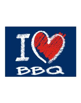 I love BBQ chalk style Sticker