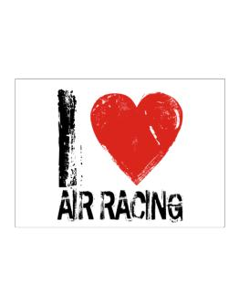 I Love Air Racing Sticker