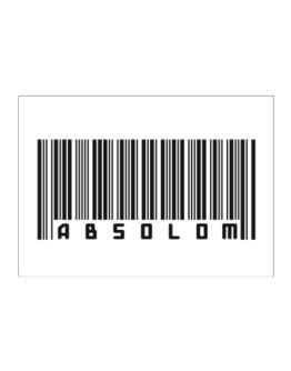 Bar Code Absolom Sticker
