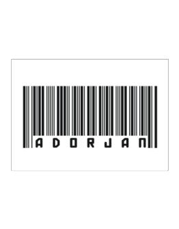 Bar Code Adorjan Sticker