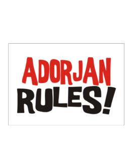 Adorjan Rules! Sticker