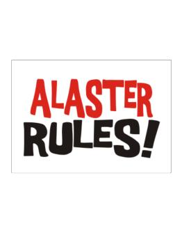 Alaster Rules! Sticker
