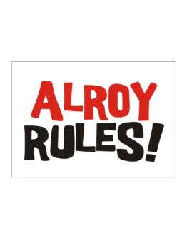Alroy Rules! Sticker