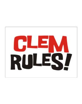 Clem Rules! Sticker