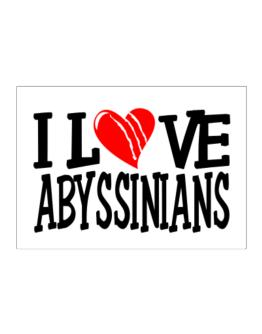 I Love Abyssinians - Scratched Heart Sticker