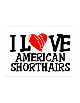 I Love American Shorthairs - Scratched Heart Sticker