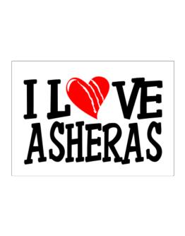I Love Asheras - Scratched Heart Sticker