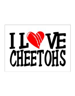 I Love Cheetohs - Scratched Heart Sticker