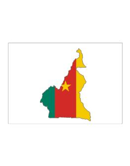 Cameroon - Country Map Color Simple Sticker