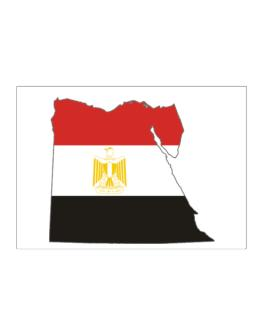 Egypt - Country Map Color Simple Sticker