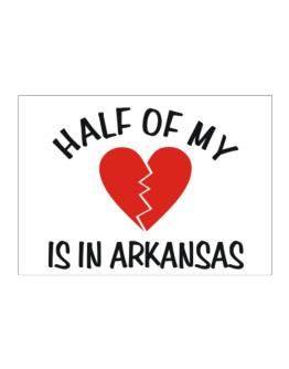 Half Of My Arkansas Sticker