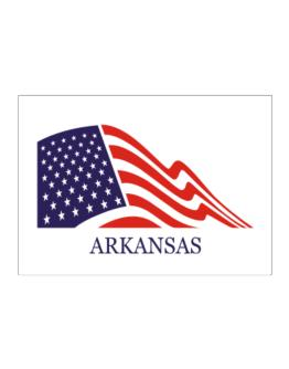 Flag Usa Arkansas Sticker