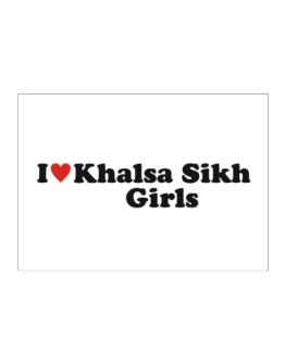 I Love Khalsa Sikh Girls Sticker