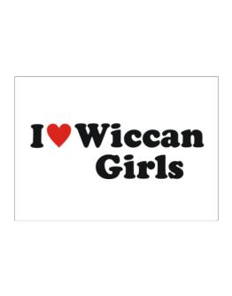 I Love Wiccan Girls Sticker