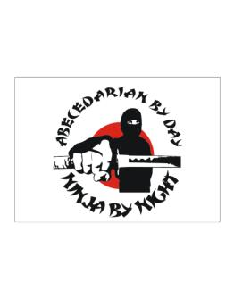 Abecedarian By Day, Ninja By Night Sticker