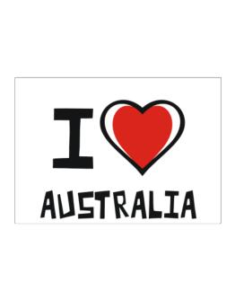 I Love Australia Sticker