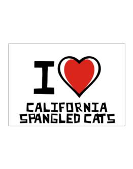 I Love California Spangled Cats Sticker