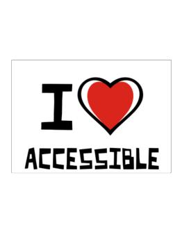 I Love Accessible Sticker