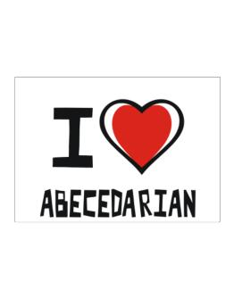 I Love Abecedarian Sticker