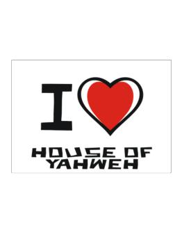 I Love House Of Yahweh Sticker