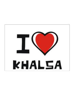 I Love Khalsa Sticker