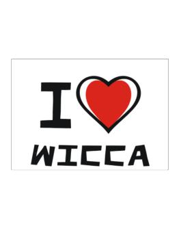 I Love Wicca Sticker