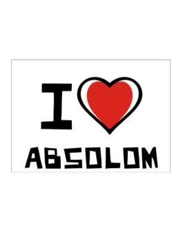 I Love Absolom Sticker