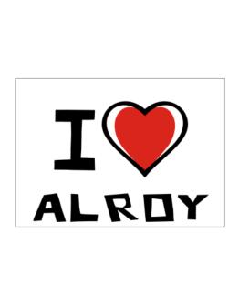 I Love Alroy Sticker