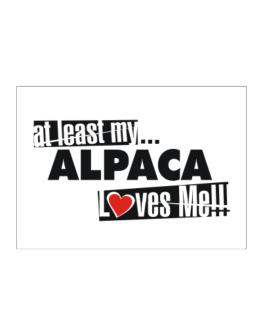At Least My Alpaca Loves Me ! Sticker