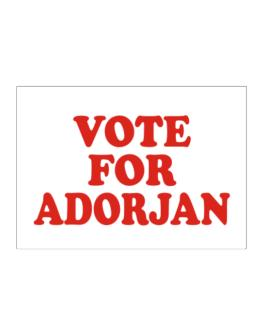 Vote For Adorjan Sticker