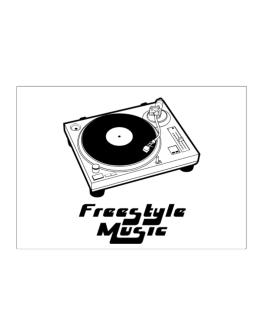 Retro Freestyle Music - Music Sticker