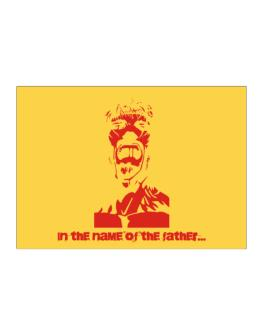 """"""" In the name of the father... - Jesus """" Sticker"""