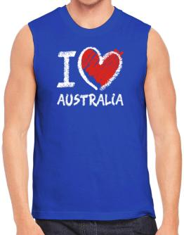 I love Australia chalk style Sleeveless