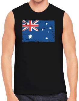 """ Australia - Vintage Flag "" Sleeveless"