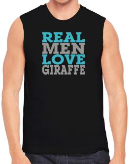 Real Men Love Giraffe Sleeveless
