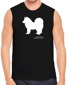 American Eskimo Dog Stencil / Chees Sleeveless